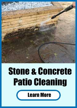 Stone & Concrete Patio Cleaning